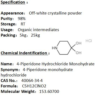 In stock 4-Piperidone Hydrochloride Monohydrate 40064-34-4