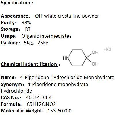 In stock 4-Piperidone Hydrochloride Monohydrate 40064-34-4