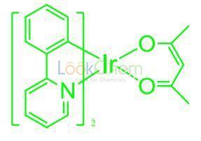 Cas: 337526-85-9 / Bis(2-phenylpyridine-C2,N′ )(acetylacetonato)iridium(III)