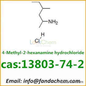 High quality of 4-Methyl-2-hexanamine hydrochloride,cas:13803-74-2 from Fandachem