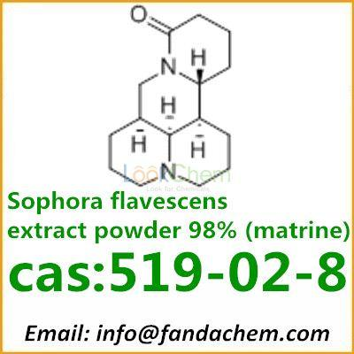 Sophora flavescens extract powder 98% (matrine), cas: 519-02-8 from Fandachem