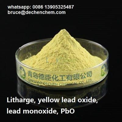 Litharge, yellow lead oxide, lead monoxide, PbO