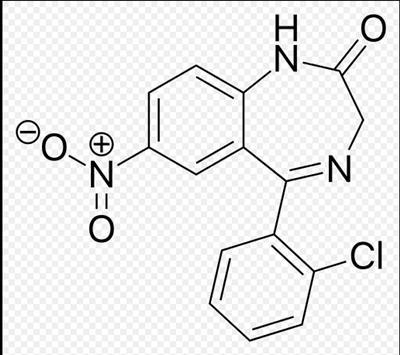 (3S)-5-(2-chlorophenyl)-3-methyl-7-nitro-1,3-dihydro-1,4-benzodiazepin-2-one(58662-84-3)
