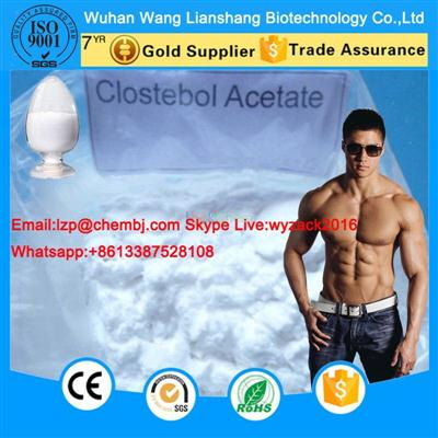 4-Chlorotestosterone acetate High Purity Raw Steroid Powder CAS 855-19-6 Clostebol Acetate (Turinabol) Z