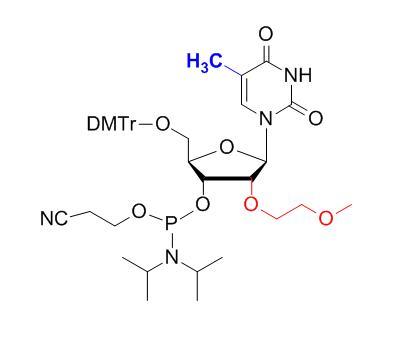 5'-O-DMTr-2'-O-(2-methoxyethyl)-5-methyluridine-3'-CED-phosphoramidite