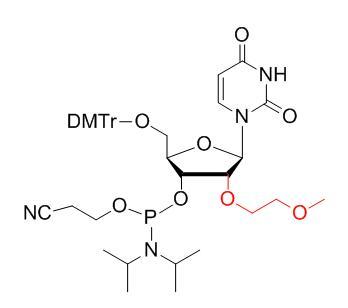 5'-O-DMTr-2'-O-(2-methoxyethyl)-uridine-3'-CED-phosphoramidite