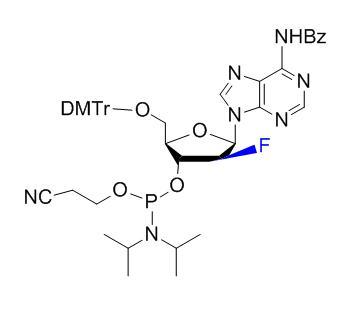 N6-Benzoyl-5'-O-(4,4'-dimethoxytrityl)-2'-fluoro-2'-deoxyarabinoadenosine-3'-O-[(2-cyanoethyl)-(N,N-diisopropyl)]phosphoramidite