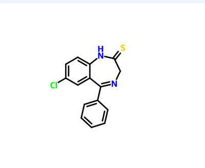7-Chloro-5-phenyl-1H-benzo[e]-[1,4]diazepine-2(3H)-thione