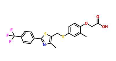 Aceticacid, [2-methyl-4-[[[4-methyl-2-[4-(trifluoromethyl)phenyl]-5-thiazolyl]methyl]thio]phenoxy]-(9CI)
