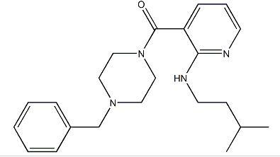 (4-BENZYLPIPERAZIN-1-YL)-[2-(3-METHYLBUTYLAMINO)PYRIDIN-3-YL]METHANONE;NSI-189;1270138-40-3