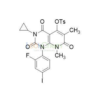 3-Cyclopropyl-1-(2-fluoro-4-iodophenyl)-6,8-dimethyl-2,4,7-trioxo-1,2,3,4,7,8-hexahydropyrido[2,3-d]pyrimidin-5-yl 4-methylbenzenesulfonate(871700-32-2)