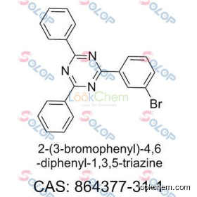 SOLOP high purity, low price, in stock, free sample  2-(3-Bromophenyl)-4,6-diphenyl-1,3,5-triazine  864377-31-1