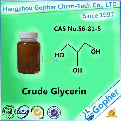 Manufacture Price of Crude Glycerin 80% CAS No.56-81-5