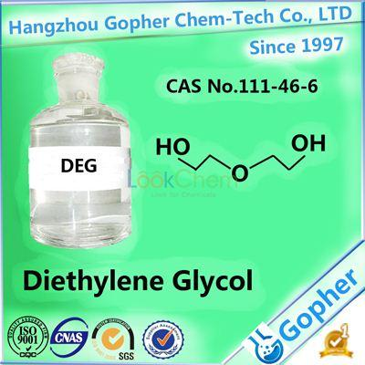 The best Chemical solvent: Diethylene Glycol DEG 99.9% with factory price CAS No.111-46-6
