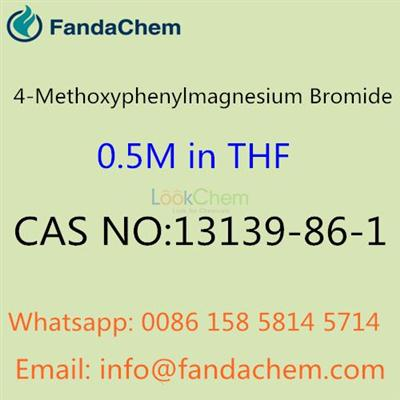 4-Methoxyphenylmagnesium Bromide 0.5M in THF, CAS NO: 13139-86-1