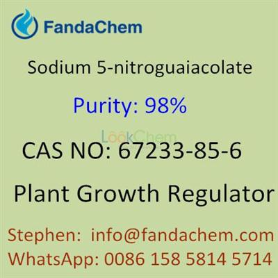 Sodium 5-nitroguaiacolate 98%, CAS NO:67233-85-6