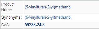 (5-vinylfuran-2-yl)methanol(59288-24-3)