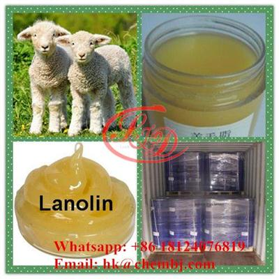 Anhydrous Lanolin Glucocorticoid CAS 8006-54-0 Anti Inflammatory Yellow Cream Lanolin For Skin Beauty