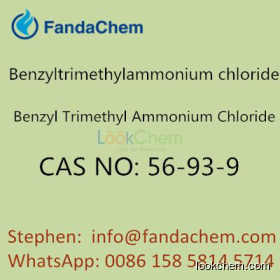 Benzyltrimethylammonium chloride, CAS NO: 56-93-9