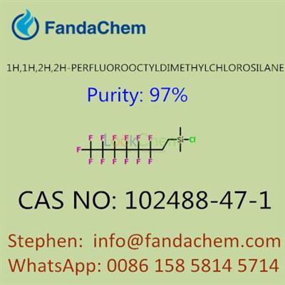 1H,1H,2H,2H-PERFLUOROOCTYLDIMETHYLCHLOROSILANE, CAS NO: 102488-47-1