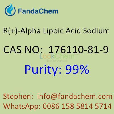 R(+)-Alpha Lipoic Acid Sodium 99% HPLC,  CAS No: 176110-81-9