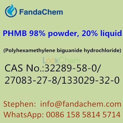 PHMB 98%, 20% solution,Polyhexamethylene biguanide hydrochloride,32289-58-0,27083-27-8,133029-32-0,fandachem