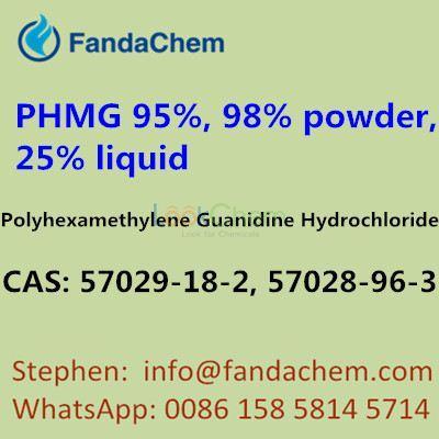 PHMG 95%, 98% powder, 25% liquid,Polyhexamethylene Guanidine Hydrochloride,57029-18-2, 57028-96-3,fandachem