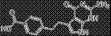 4-[2-(2-Amino-4,7-dihydro-4-oxo-1H-pymol[2,3-d]pyrimodin-5-yl)ethyl]benzoic acid