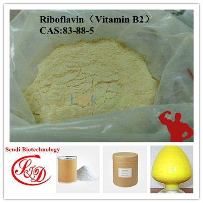 Factory Supply 98% High Purity Riboflavin Vitamin B2 Powder