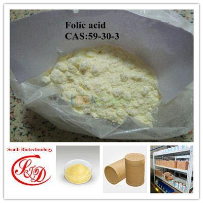 Factory Price USP35 Vitamins Agent Folic Acid APIs Raw Powder