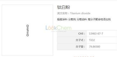 Best Supplier of titanium dioxide/TiO2/Titanium oxide price CAS NO.13463-67-7