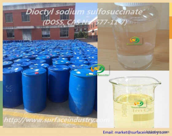 Sodium Dioctyl Sulfosuccinate 70% (DOSS with IPA, CAS No. 57)7-11-7