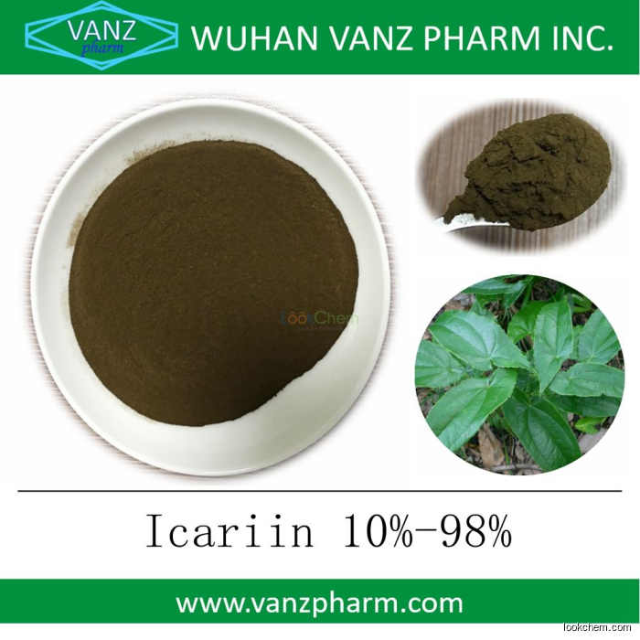 Bulk supply Epimedium extract Icariin 10% 50% 98% for sexual enhancement