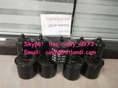Mercury 99.999% CAS No.7439-97-6 Quicksilver Hydrargyrum mercury china supplier