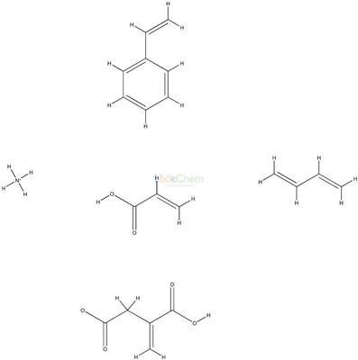 129539-34-0 Butanedioic acid, methylene-, polymer with 1,3-butadiene, ethenylbenzene and 2-propenoic acid, ammonium salt
