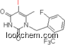 1-[[2-Fluoro-6-(trifluoromethyl)phenyl]methyl]-5-iodo-6-methyl-2,4(1H,3H)-pyrimidinedione