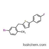 High quality 2-[(5-bromo-2-methylphenyl)methyl]-5-(4-fluorophenyl)thiophene CAS: 1030825-20-7 99%min--(5-Bromo-2-methylbenzyl)-5-(4-fluorophenyl)thiophene