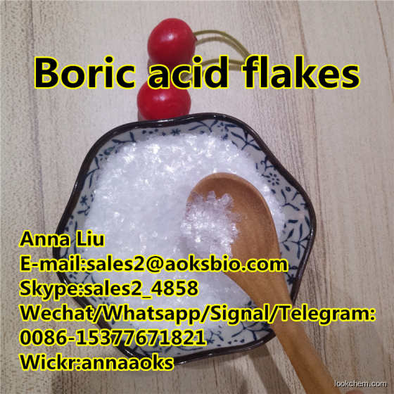 Fish Scaly Boric acid CAS 11113-50-1 chunk flake price Orthoboric acid
