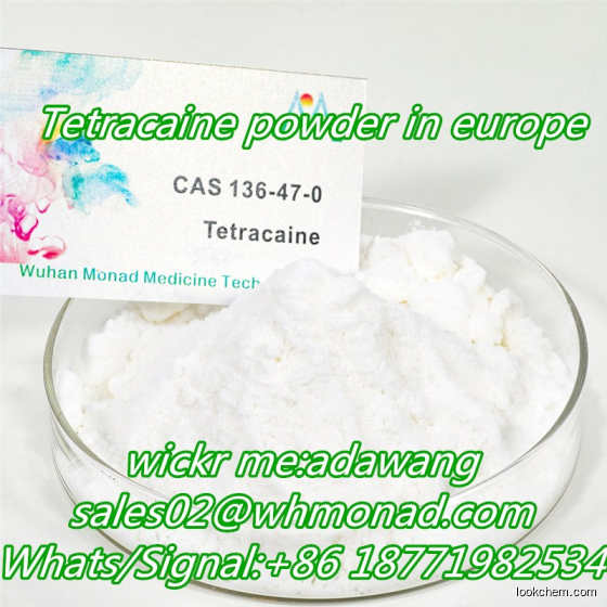 Tetracaine hcl powder  99% Manufactuered in China best quality CAS.136-47-0