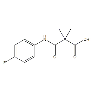 1-(4-FLUOROPHENYLCARBAMOYL)CYCLOPROPANECARBOXYLIC ACID cas:849217-48-7